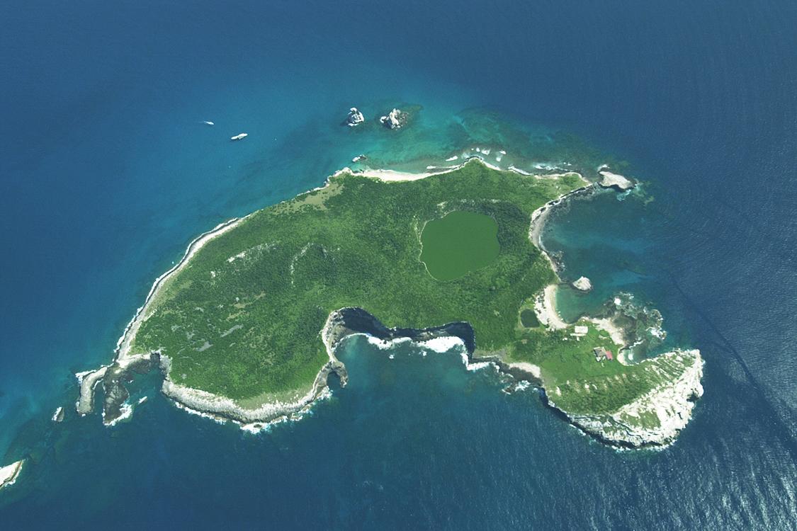 Vista aérea de la isla Ixtapa